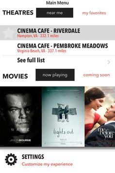 Cinema Cafe poster