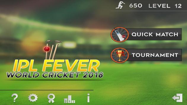 World Cricket 2018-IPL Fever. poster