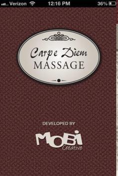 Carpe Diem Massage poster