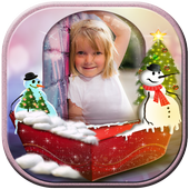 Snow Globe Photo Frame icon