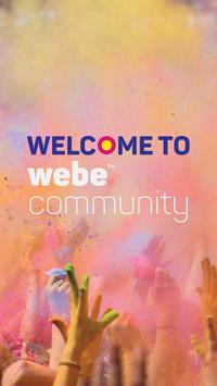 webe community poster