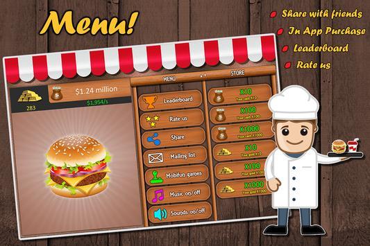 Amazing Burger Clicker apk screenshot