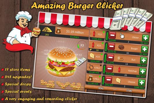 Amazing Burger Clicker poster