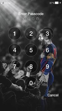 Messi 4K HD Wallpapers & PIN Lock Screen screenshot 3