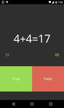 Math Game Tricks- True Or False poster
