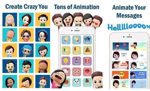 XPRESSO Memoji 3D Avatar Anime Animoji Gif Sticker apk screenshot