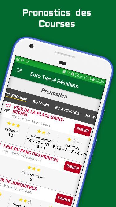 Euro-Tiercé & Quinté Pronostics et Résultats for Android - APK Download