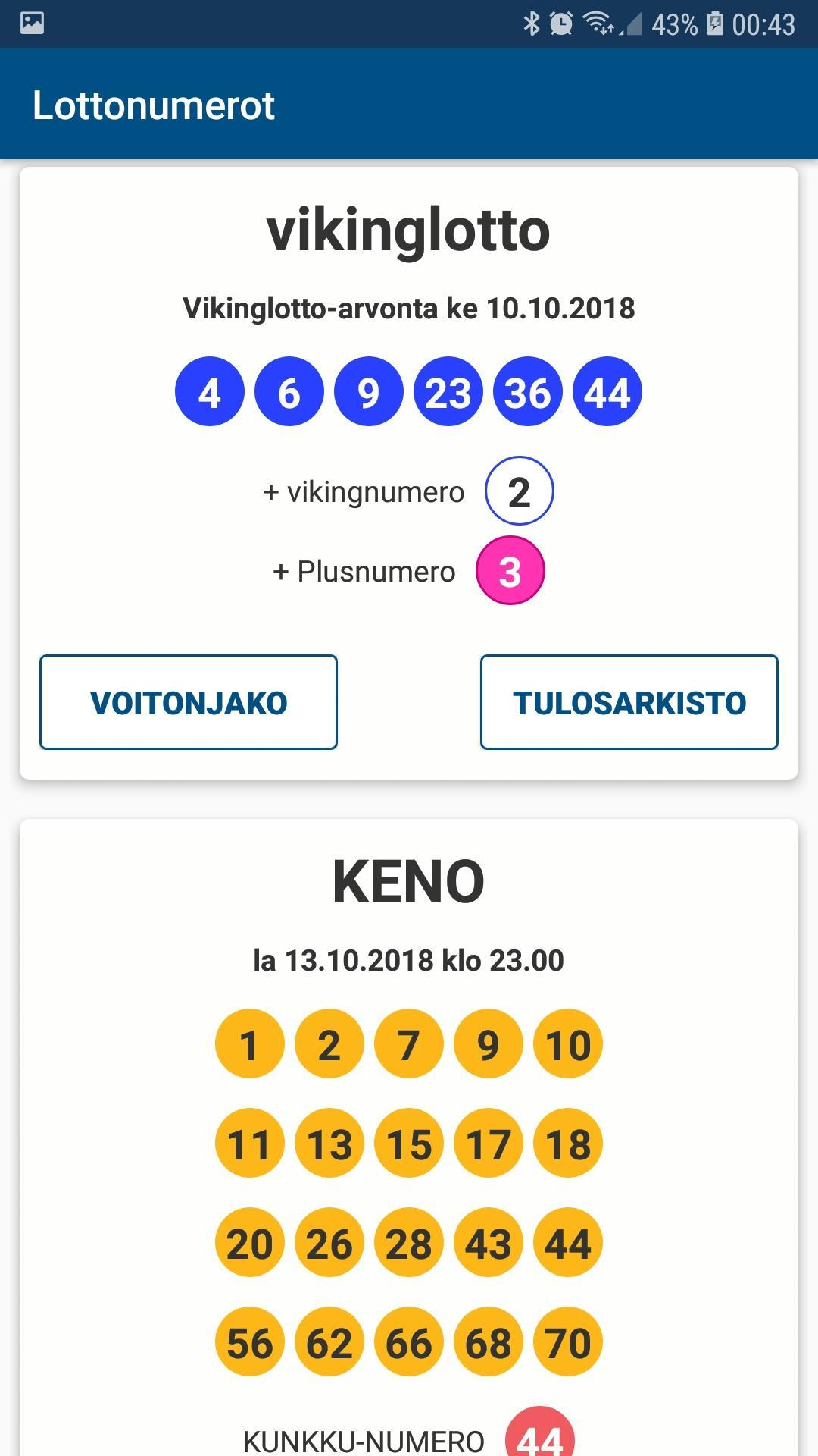 Lottonumerot