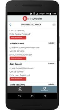 Beetween - Logiciel de recrutement RH - ATS apk screenshot