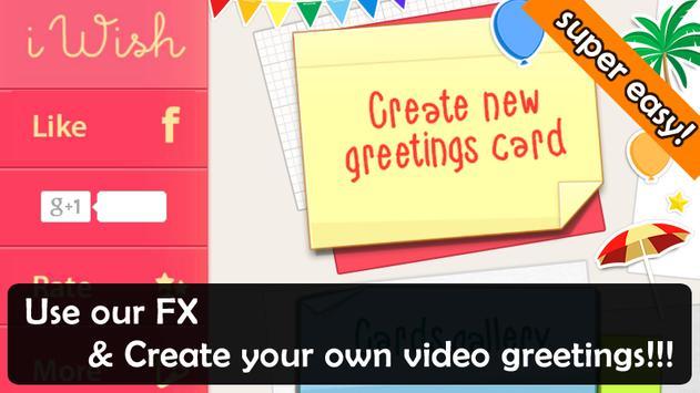 Iwish video greeting cards apk download free video players iwish video greeting cards poster m4hsunfo