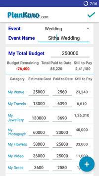 Wedding budget planner apk download free tools app for android wedding budget planner apk screenshot junglespirit Gallery