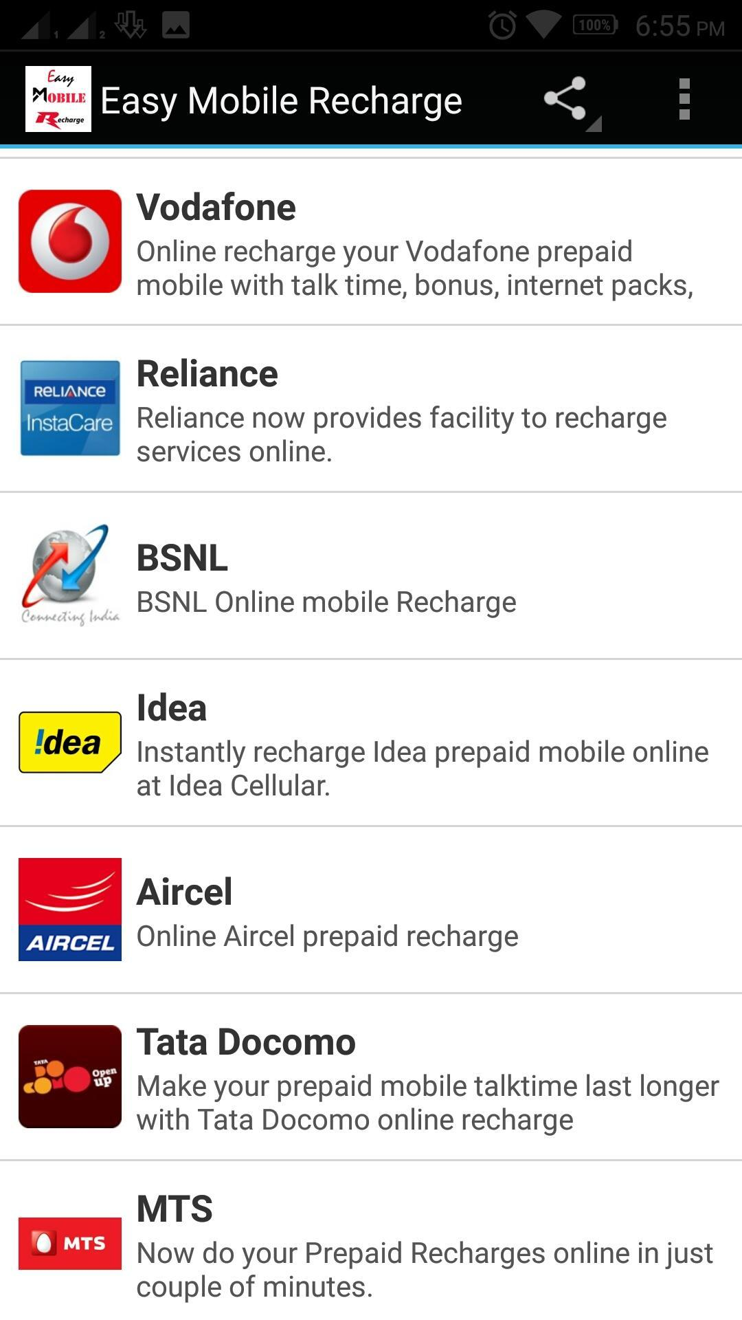 Aircel recharge online