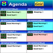 Simple 8 days schedule viewer. icon