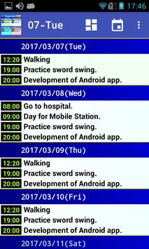 Simple 8 days schedule viewer. poster