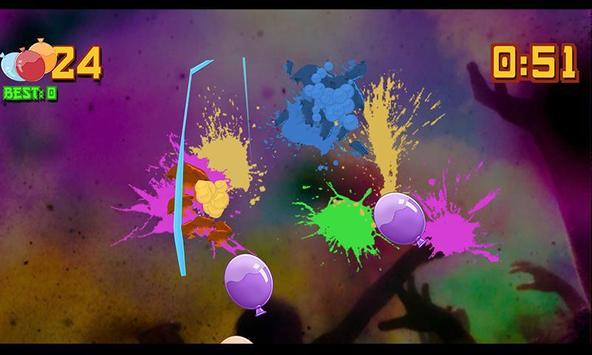 Holi Balloon Slice Rush poster