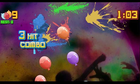 Holi Balloon Slice Rush apk screenshot