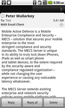 MAD Corporate Email Client screenshot 2