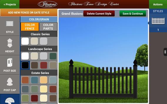 Illusions Fence Design Center apk screenshot