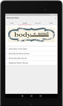 Body and Soul Salon poster