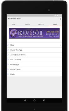 Body and Soul Salon apk screenshot