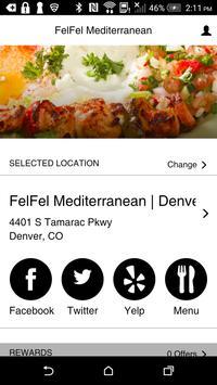 FelFel Mediterranean Rewards poster