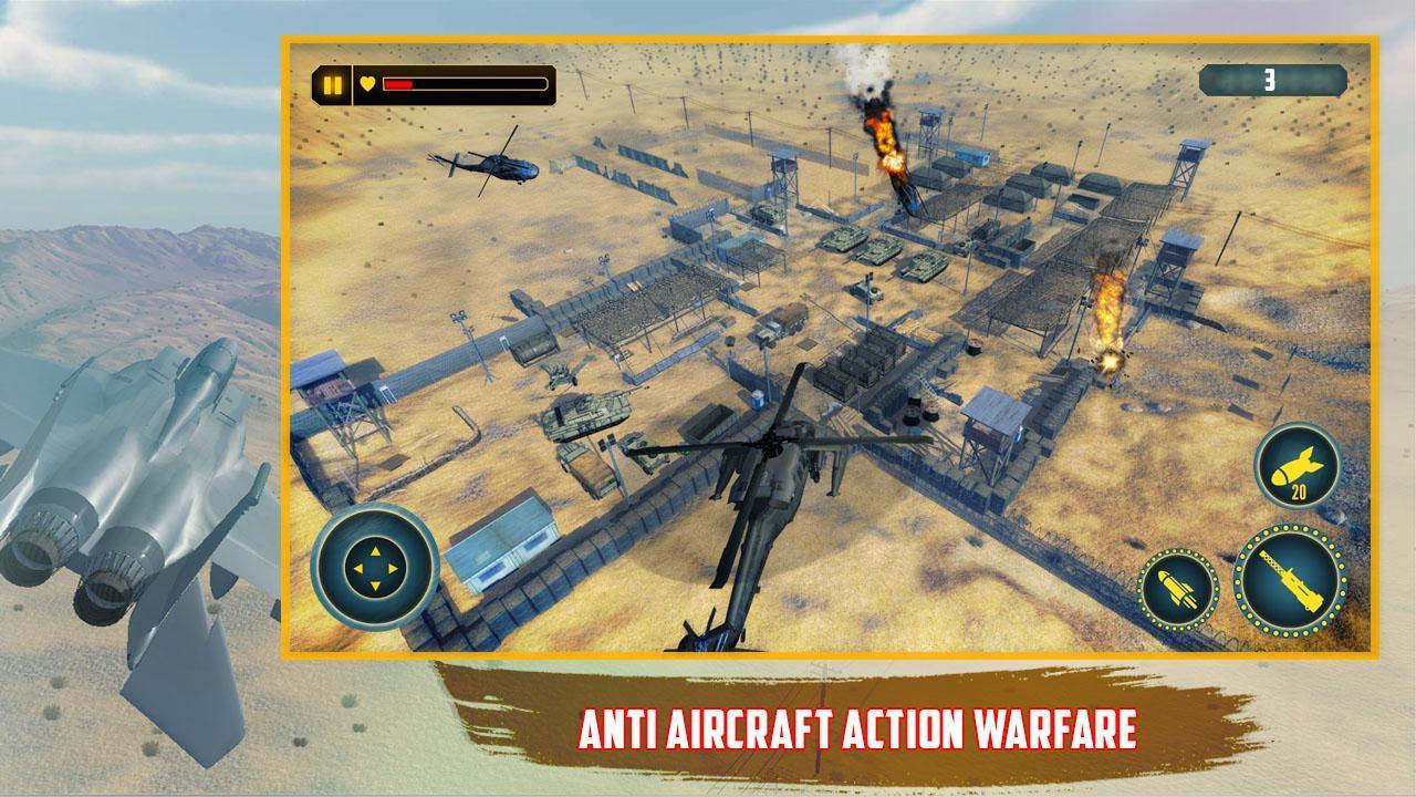 حربية هليكوبتر 2019 مقاتلة الهواء المقاتلة ألعاب For