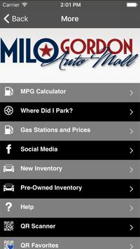 Milo Gordon Auto Mall apk screenshot