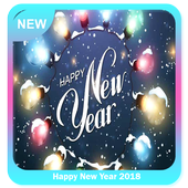 Happy New Year 2018 icon