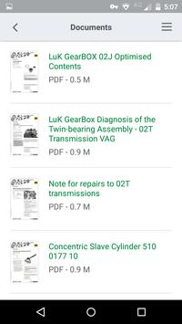 Schaeffler Parts Search screenshot 7