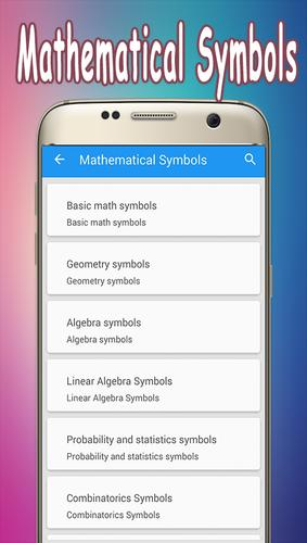 Mathematical Symbols Apk Download Free Education App For Android