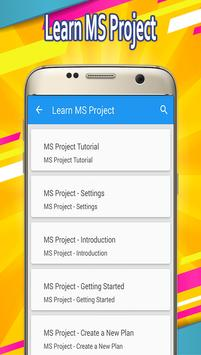 Learn MS Project poster