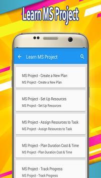 Learn MS Project screenshot 1