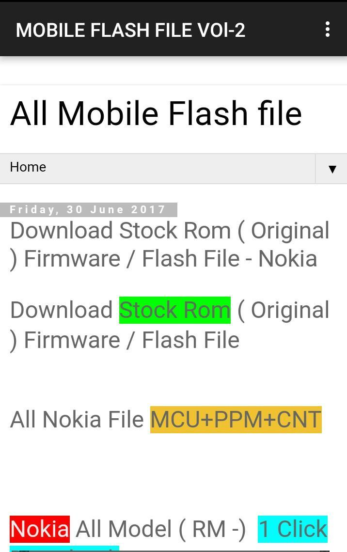 Nokia 2 Flash File