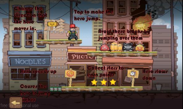 Amazing hero escape jumper apk screenshot