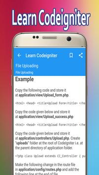 Learn Codeigniter screenshot 3