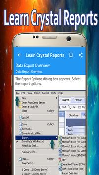 Learn Crystal Reports apk screenshot