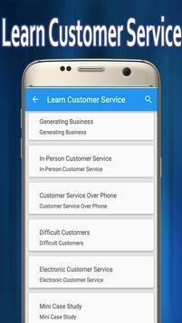 Learn Customer Service screenshot 1