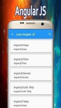 Learn Angular JS apk screenshot