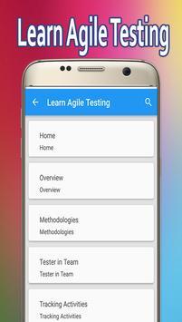Learn Agile Testing poster