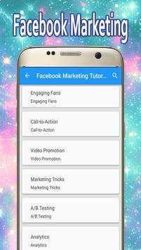 Guide For Facebook Marketing poster