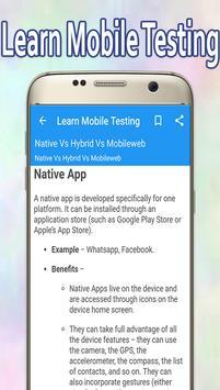 Learn Mobile Testing apk screenshot