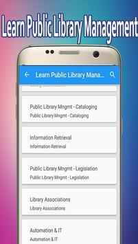 Learn Public Library Management apk screenshot