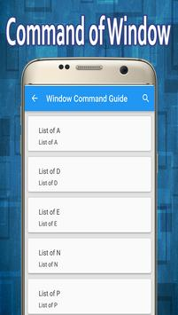 Window Command Guide poster