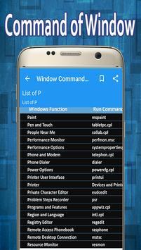 Window Command Guide apk screenshot