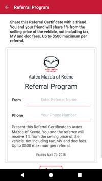 Autex Mazda of Keene screenshot 2