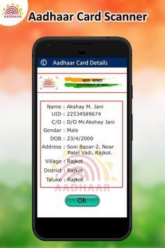 Instant Scan Aadhar Card apk screenshot