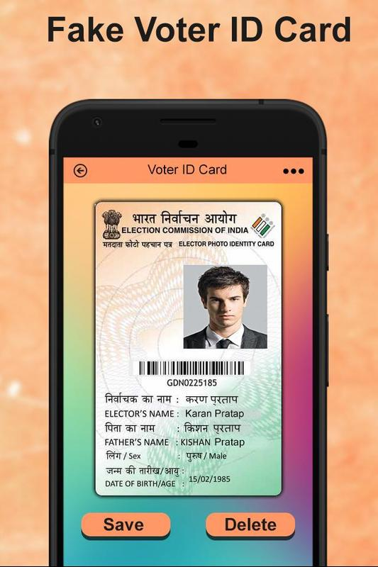 Android Download Fake Id Apk Maker For - Card Voter