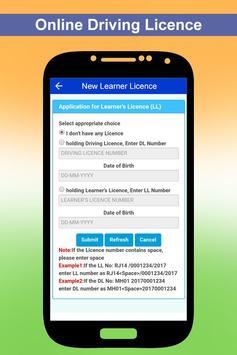 Apply Online Driving Licence apk screenshot