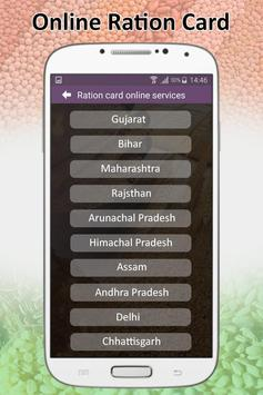Ration Card Online Services : All India States poster