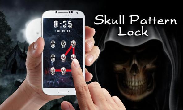 Skull Pattern Lock Screen apk screenshot